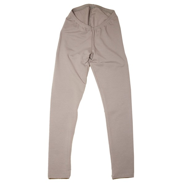 Warme Leggings aus Sweatshirtstoff, taupe