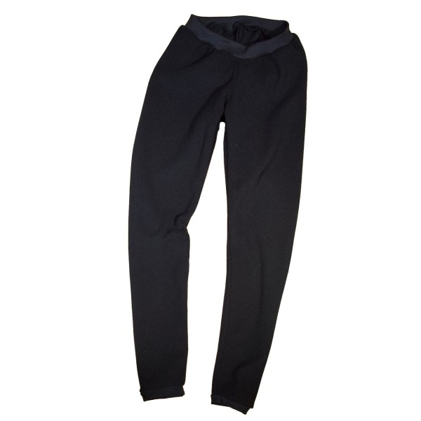 Thermo- Leggings aus Fleece, schwarz