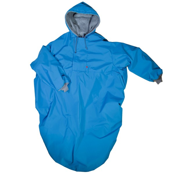 Wetterfestes Outdoorcape Aqua
