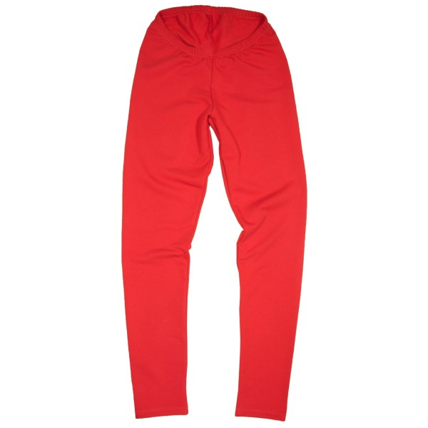 Warme Leggings aus Sweatshirtstoff, rot